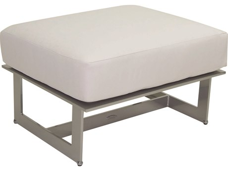 Castelle Eclipse Sectional Cast Aluminum Lounge Ottoman