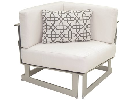 Castelle Eclipse Sectional Cast Aluminum Square Corner Unit with One Pillow