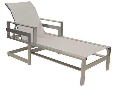 Castelle Eclipse Sling Cast Aluminum Adjustable Chaise Lounge