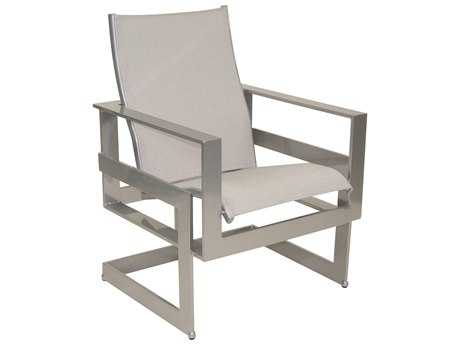 Castelle Eclipse Sling Cast Aluminum Dining Chair