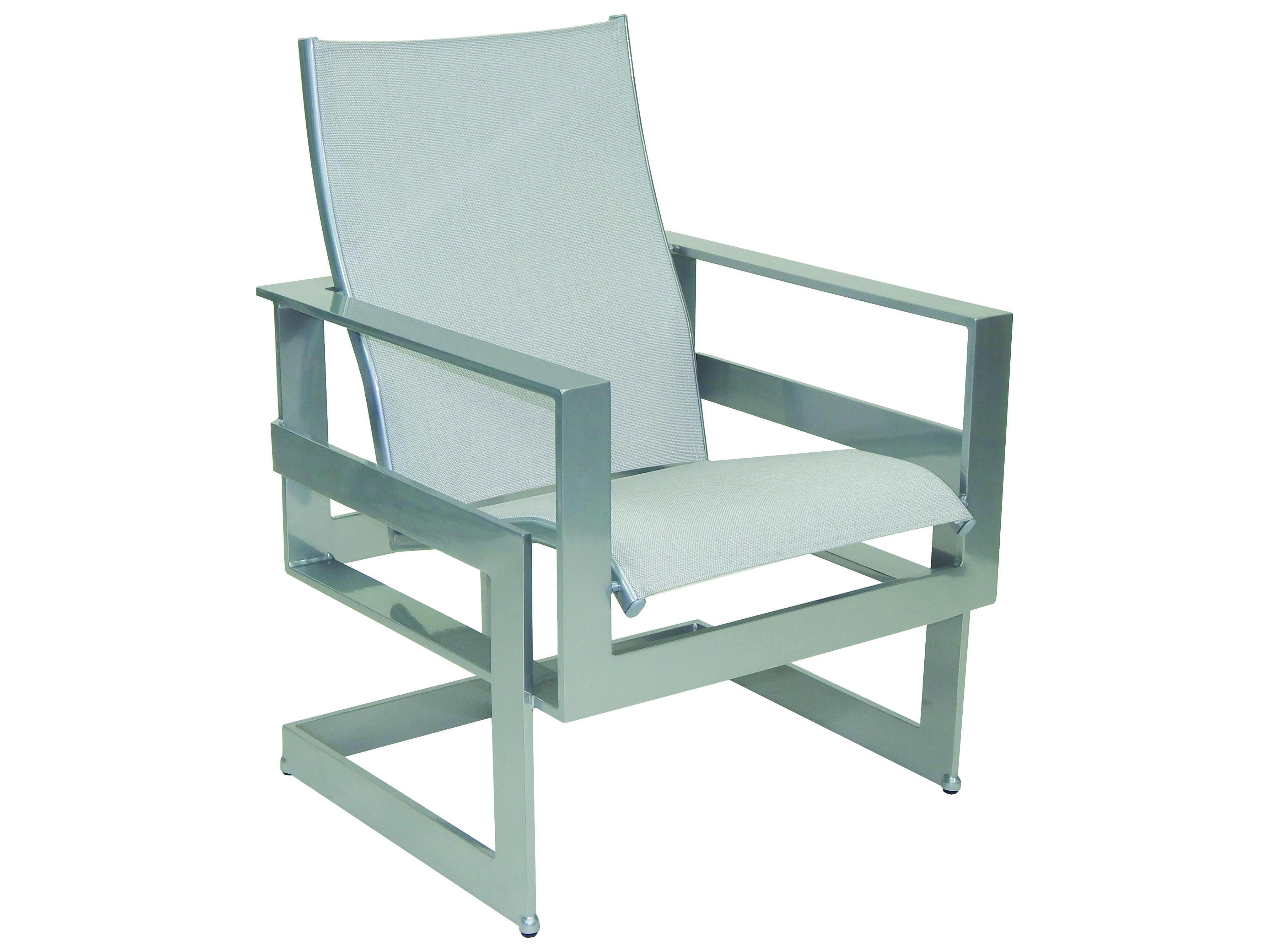 Castelle Eclipse Sling Cast Aluminum Dining Chair