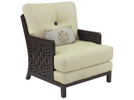 Castelle Spanish Bay Cushion Cast Aluminum Lounge Chair with One Kidney Pillow