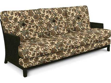 Castelle Spanish Bay Cushion Cast Aluminum Sofa with Three Kidney Pillows