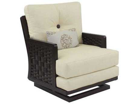 Castelle Spanish Bay Cushion Cast Aluminum Action Chair with One Kidney Pillow