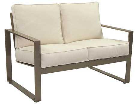Castelle Park Place Cushion Cast Aluminum Loveseat