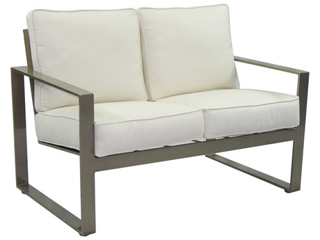 Castelle Park Place Cushion Cast Aluminum Loveseat