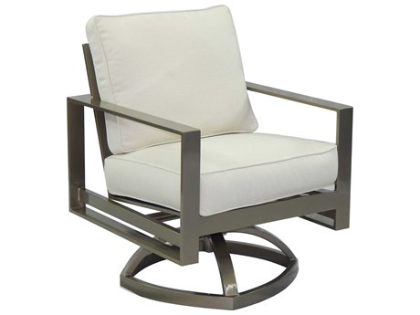 Castelle Park Place Cushion Cast Aluminum Swivel Rocker