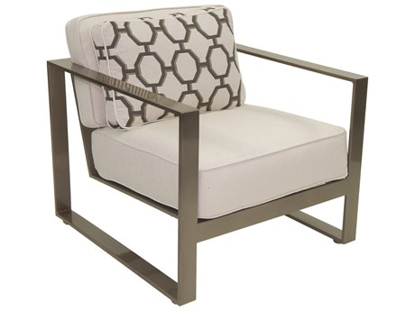 Castelle Park Place Deep Seating Cushion Cast Aluminum Lounge Chair with One Pillow
