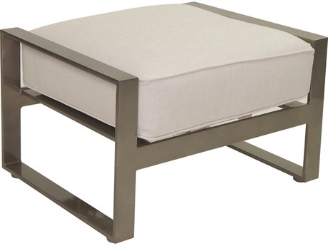 Castelle Park Place Deep Seating Cushion Cast Aluminum  Ottoman