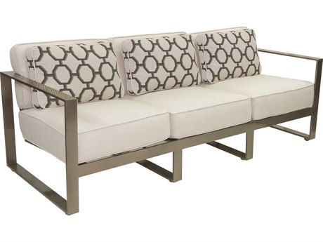 Castelle Park Place Deep Seating Cushion Cast Aluminum Sofa PF2214T