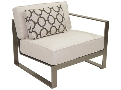 Castelle Park Place Sectional Cast Aluminum Left Arm Lounge Unit with One Pillow