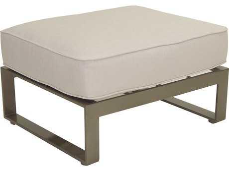 Castelle Park Place Sectional Cast Aluminum Lounge Ottoman