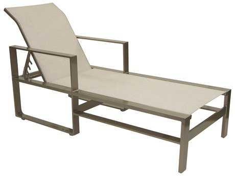 Castelle Park Place Slin  Cast Aluminum Adjustable Chaise Lounge