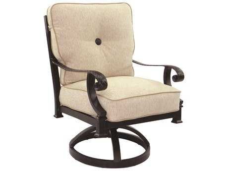 Castelle Bellagio Cushion Cast Aluminum Swivel Rocker