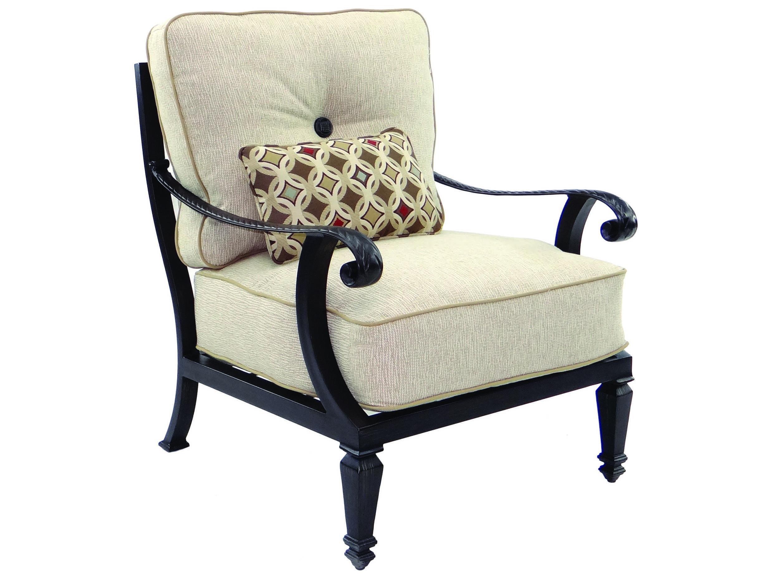 Castelle bellagio cushion cast aluminum lounge set for Bellagio chaise lounge