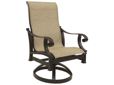 Castelle Bellagio Sling Cast Aluminum Swivel Rocker