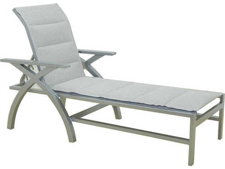 Castelle ventura sling cast aluminum adjustable chaise for Cast aluminum chaise lounge