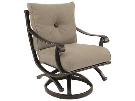 Castelle Telluride Cushion Cast Aluminum Swivel Rocker