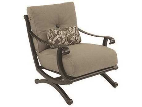 Castelle Telluride Deep Seating Cast Aluminum Lounge Chair with One Kidney Pillow