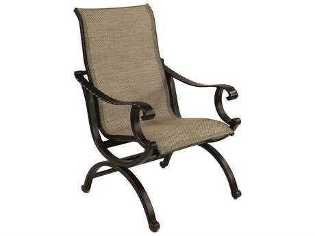 Castelle Telluride Sling Cast Aluminum Dining Chair
