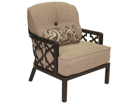 Castelle Belle Epoque Deep Seating Cast Aluminum Lounge Chair with One Kidney Pillow