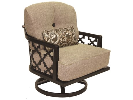 Castelle Belle Epoque Deep Seating Cast Aluminum Lounge Swivel Rocker with One Kidney Pillow