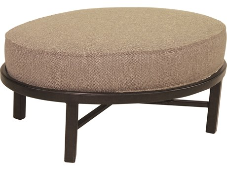 Castelle Belle Epoque Deep Seating Cast Aluminum Oval Ottoman