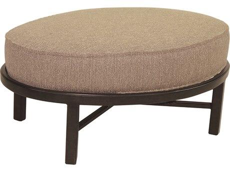 Castelle Belle Epoque Cushion Cast Auminum Oval Ottoman
