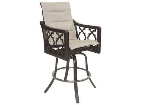 Castelle Belle Epoque Sling Cast Auminum High Back Swivel Bar Stool