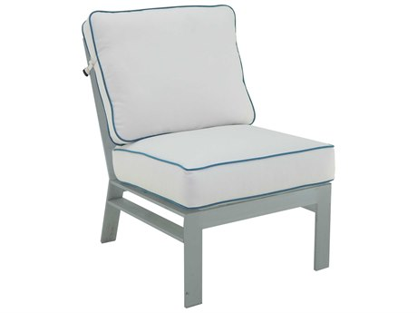 Castelle Trento Sectional Cast Aluminum Cushion Armless Lounge Unit