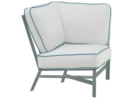 Castelle Trento Sectional Cast Aluminum Cushion Square Corner Unit