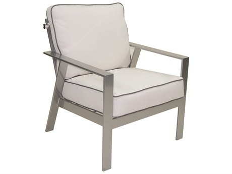 Castelle Trento Deep Seating Cushion Cast Aluminum Lounge Chair