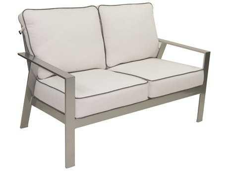 Castelle Trento Deep Seating Cushion Cast Aluminum Loveseat