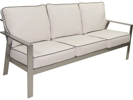 Castelle Trento Deep Seating Cushion Cast Aluminum Sofa