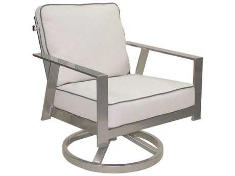 Castelle Trento Deep Seating Cushion Cast Aluminum Lounge Swivel Rocker