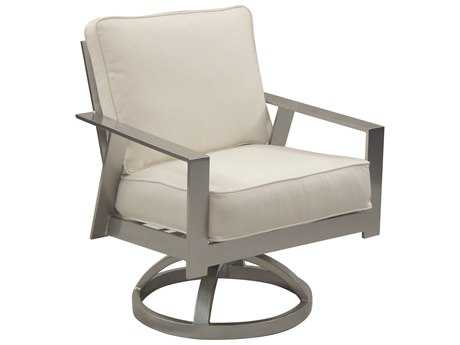 Castelle Trento Cushion Cast Aluminum Swivel Rocker