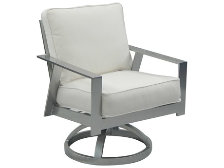 Castelle Trento Cushion Cast Aluminum Swivel Rocker