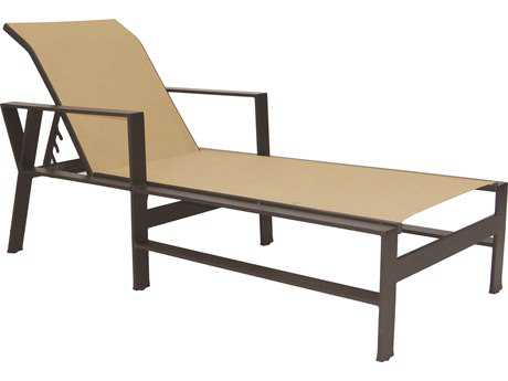 Castelle Trento Sling Cast Aluminum Adjustable Chaise Lounge