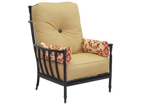 Castelle Provence Deep Seating Cast Aluminum Ultra High Back Lounge Chair with Two Side Pillows