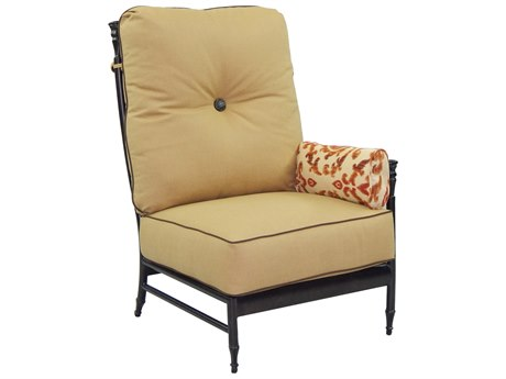 Castelle Provence Sectional Cast Aluminum Sectional Left Arm Lounge Unit with One Side Pillow