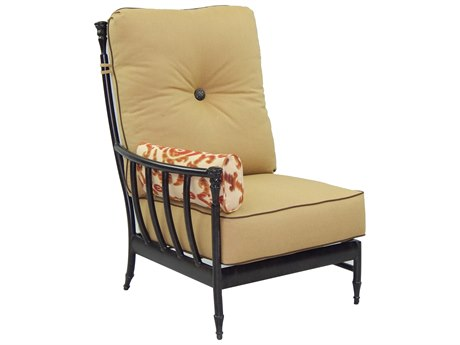 Castelle Provence Sectional Cast Aluminum Sectional Right Arm Lounge Unit with One Side Pillow