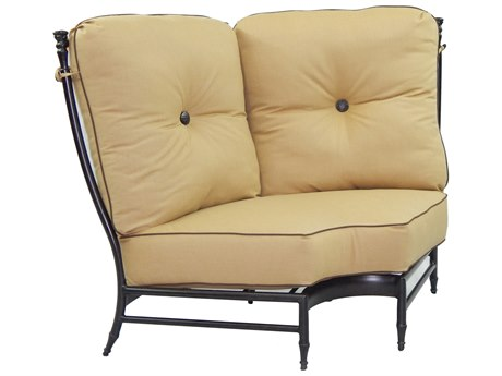 Castelle Provence Sectional Cast Aluminum Sectional Curved Corner Unit