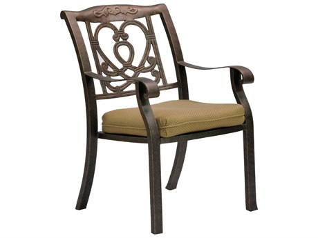 Castelle Madrid Cast Aluminum Dining Chair with Loose Seat Cushion