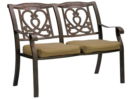 Castelle Madrid Cast Aluminum Settee with Two Loose Seat Cushions