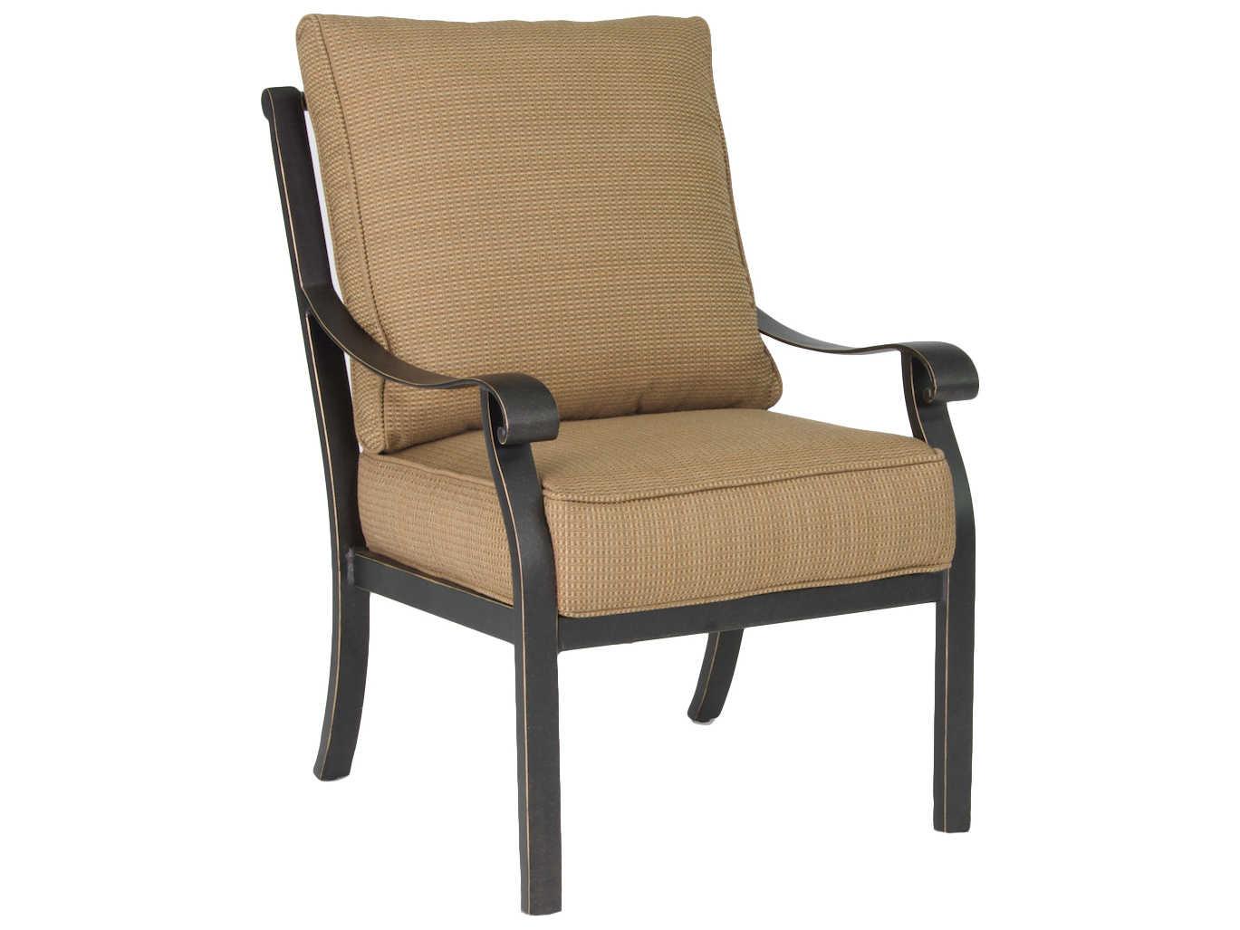 Castelle Madrid Cushion Cast Aluminum Dining Chair