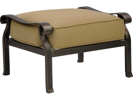 Castelle Madrid Deep Seating Cast Aluminum Ottoman
