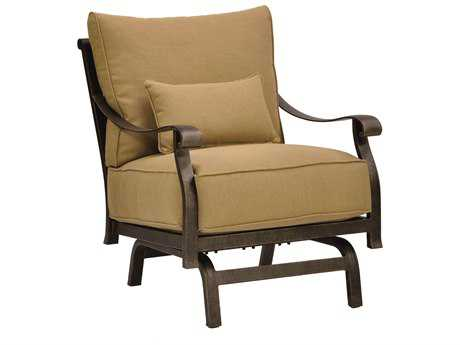 Castelle Madrid Deep Seating Cast Aluminum Action Chair with One Kidney Pillow