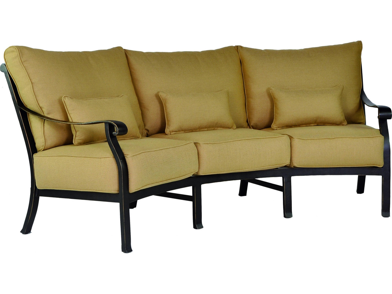 Castelle madrid cushion cast aluminum crescent sofa with for Sofas a medida madrid