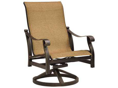 Castelle Madrid Sling Cast Aluminum Lounge Swivel Rocker