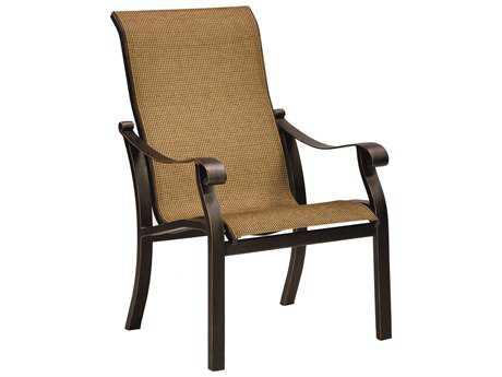 Castelle Madrid Sling Cast Aluminum Dining Chair PF3896